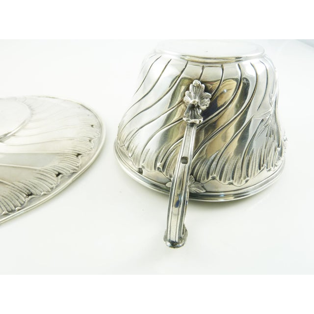 Antique French Sterling Silver Cup and Saucer by Ravinet & Denfert For Sale - Image 6 of 7
