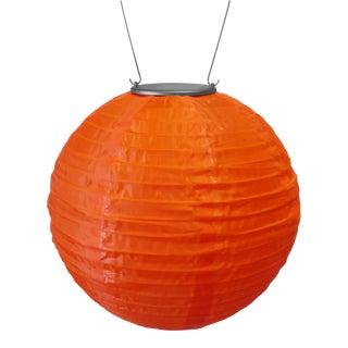 Soji Outdoor Solar Powered Lantern in Orange For Sale