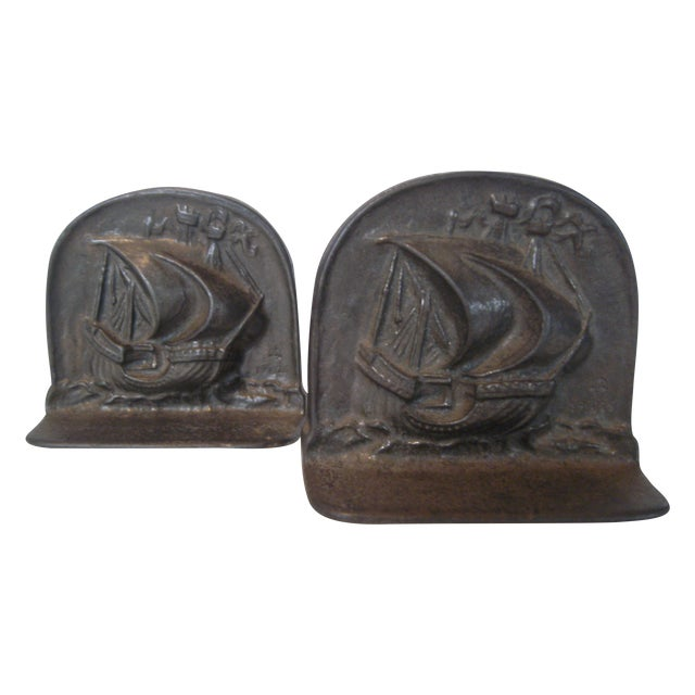 1925 Bradley & Hubbard Iron Bookends- A Pair - Image 1 of 9
