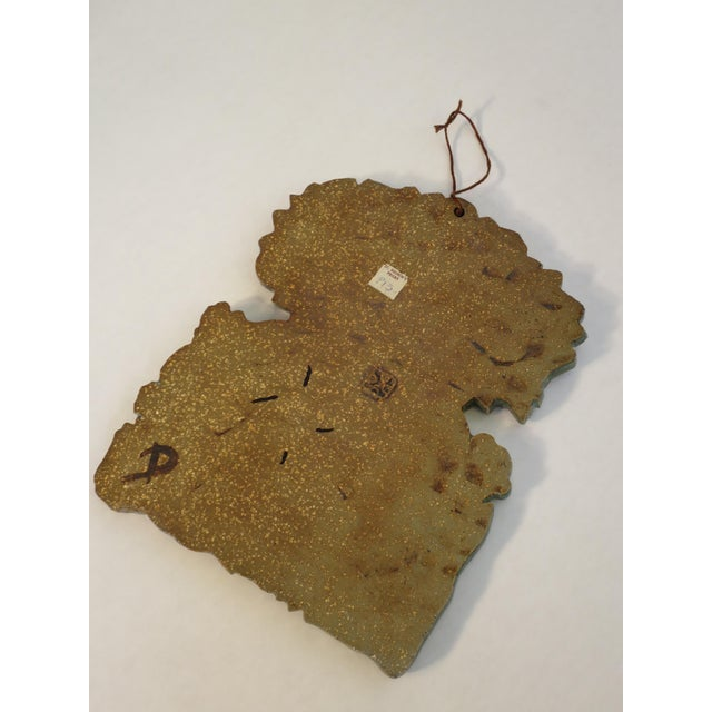 Vintage Ceramic Wall Plaque by St. Andrew's Priory Pottery For Sale In San Diego - Image 6 of 7
