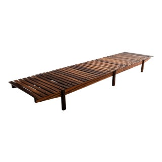 Mucki medium bench by Sergio Rodrigues, Brazil, circa 1958. For Sale