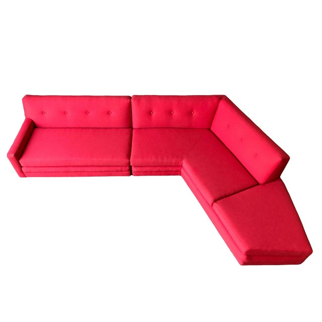Harvey Probber Style Angular Sectional - Image 1 of 6