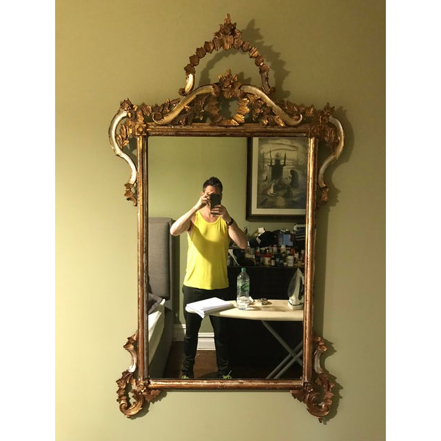 Glass 1900s Argentinian Gold Leaf Mirror For Sale - Image 7 of 7