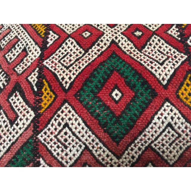 African Moroccan Berber Handwoven Tribal Vintage Pillow For Sale - Image 3 of 9