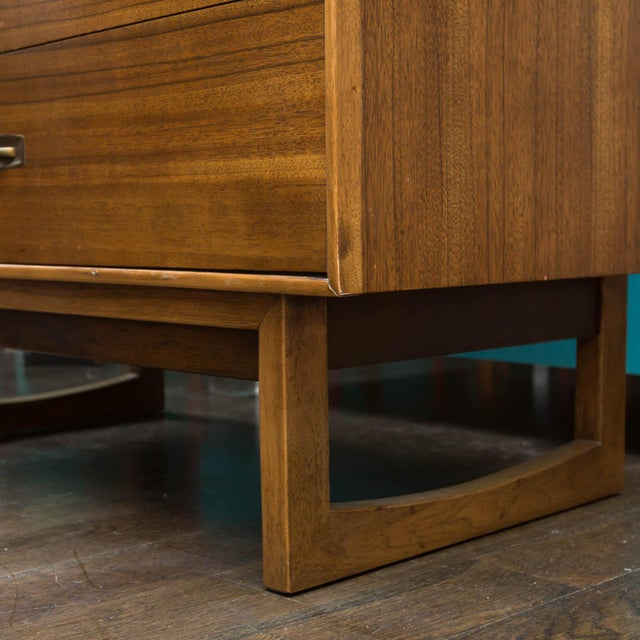 Tan Mid-Century Drexel Composite Walnut High Chest For Sale - Image 8 of 11