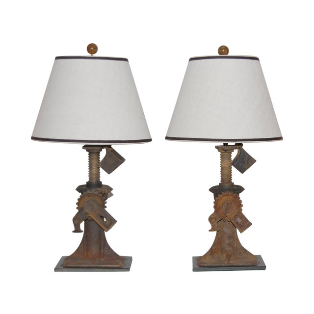 19th Century Iron Jack Lamps - Pair - Image 1 of 5