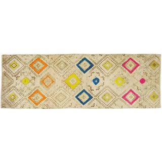 "Vintage Kurdish Tribal Rug,3'4""x9'9"" For Sale"