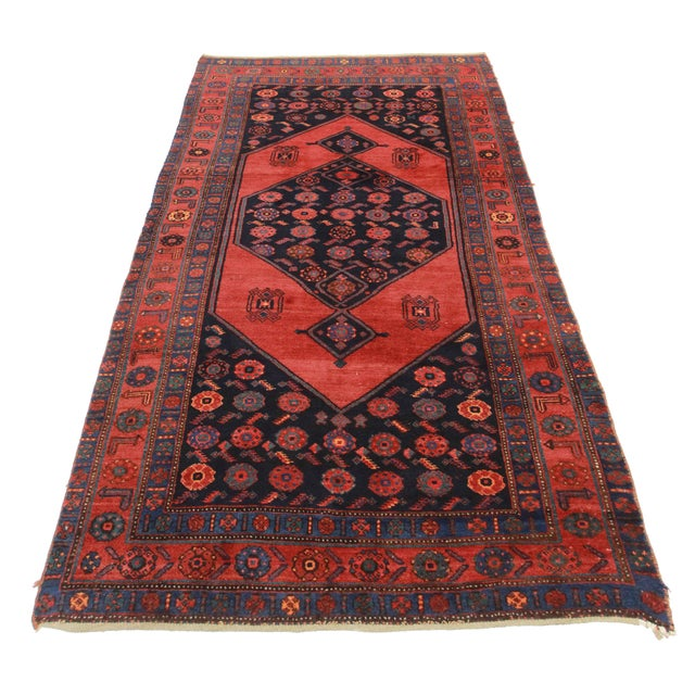 Rugsindallas Vintage Persian Design Wool Area Rug: RugsinDallas Antique Persian Bidjar Wool Rug