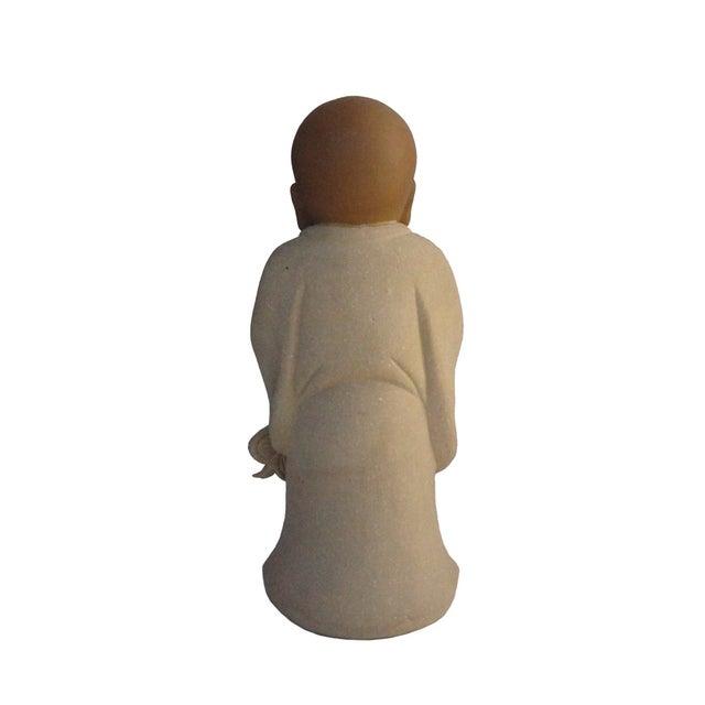 Chinese Ceramic Monk Buddha Lo Han Figurine - Image 4 of 4