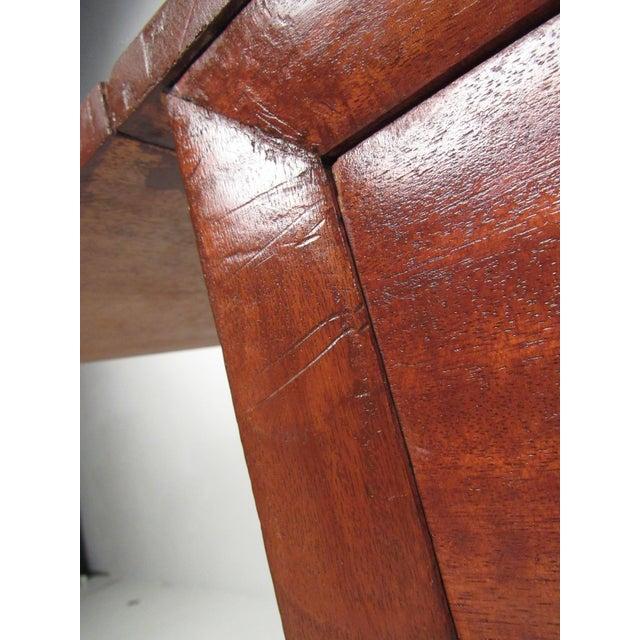 Metal Sculptural Mid-Century Modern Drop-Leaf Writing Desk For Sale - Image 7 of 12