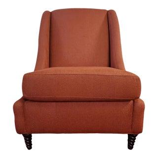 Contemporary Orange Slipper Chair For Sale