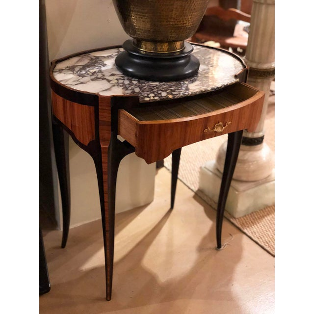 18th Century 18th Century Louis XV Table With Marble Top Oval Shape For Sale - Image 5 of 11