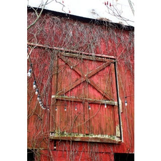 Red Barn Door Photograph For Sale