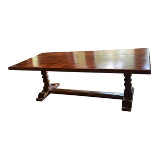 French Country Trestle Base Dining Table
