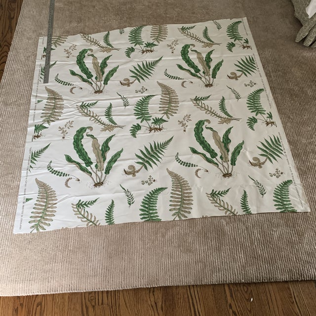 "2010s G. P. & J. Baker ""Ferns"" Fabric- 1 1/4 Yards For Sale - Image 5 of 8"