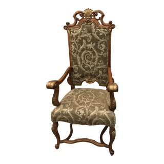"Early 21st Century Handcarved ""Royal"" Armchair For Sale"