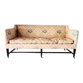 Vintage Mahogany Frame Timeless Sofa For Sale