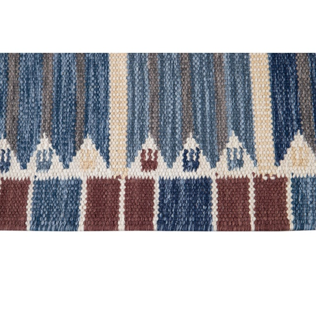 21st Century Modern Swedish Style Wool Runner Rug For Sale - Image 10 of 13