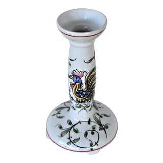 1980s Anfora Aqueda Hand Painted Candle Holder For Sale