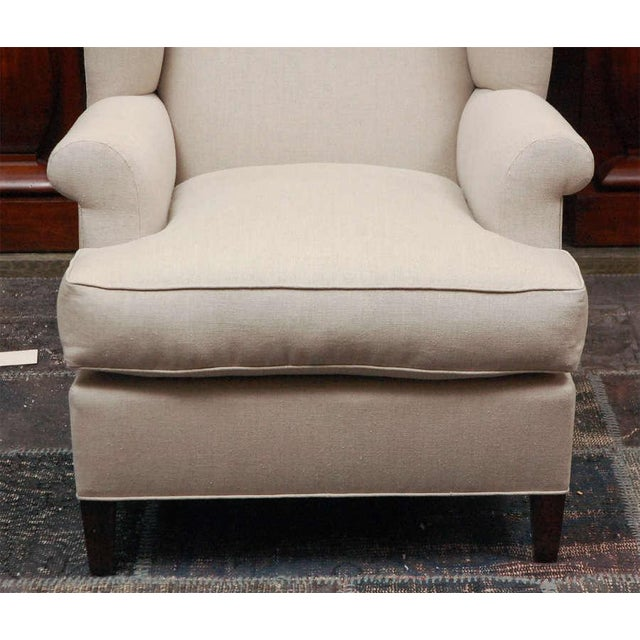 "Not Yet Made - Made To Order ""Worrell"" by Lee Stanton English Wing Chair in Belgian Linen or Custom Fabric For Sale - Image 5 of 11"