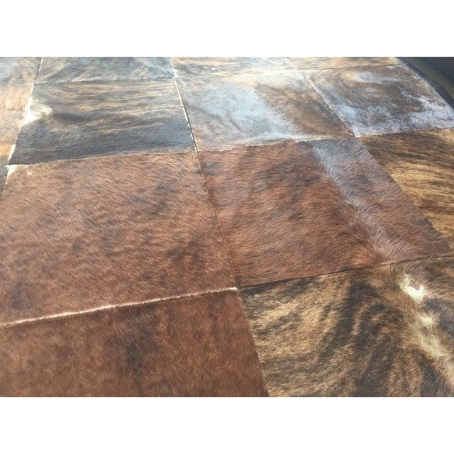 South American Hide Tile Rug - 11′ × 11′ - Image 4 of 4