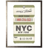 """Image of Nyc Travel Ticket - 23.5"""" X 29.5"""" For Sale"""