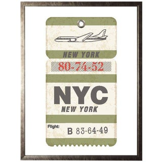 "Nyc Travel Ticket - 23.5"" X 29.5"" For Sale"