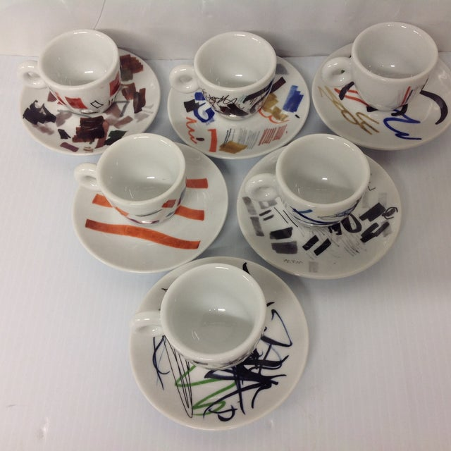 Padraig Timoney Illy Espresso Cups - Set of 6 - Image 4 of 6