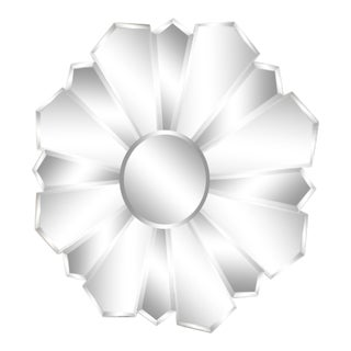 """Large Starburst 38"""" Beveled Wall Mirror For Sale"""