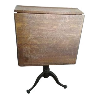 Hardwood Adjustable Top Industrial Table For Sale