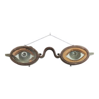 English Country Painted Eye Glass Sign For Sale