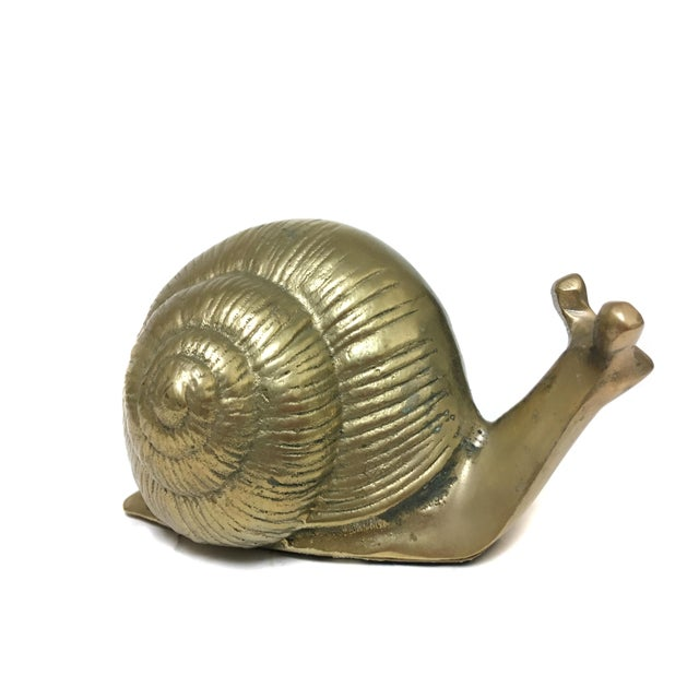 Brass Vintage Brass Snail Figurine For Sale - Image 7 of 7