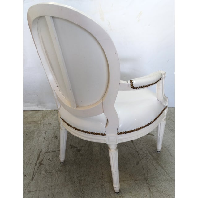 Antique Louis XVI Style Chairs - A Pair For Sale In Miami - Image 6 of 11