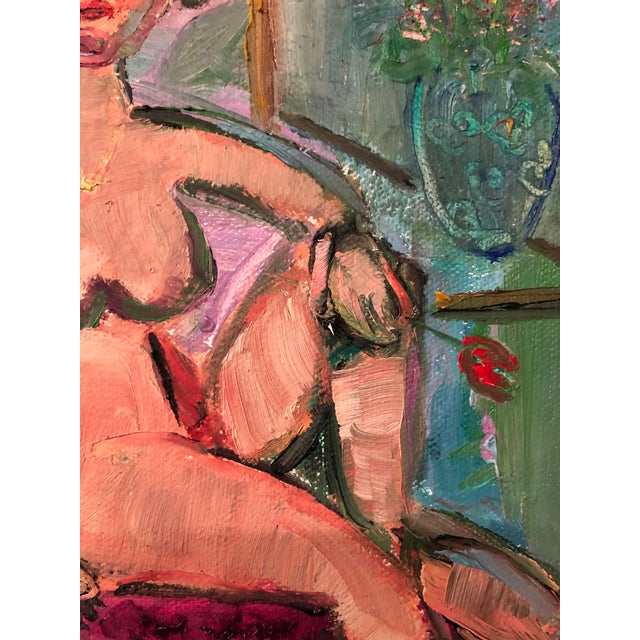 Modern Petite Oil Painting by J J Justice For Sale - Image 4 of 10