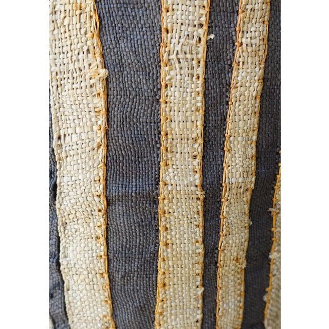 Orange Large Rectangular African Kuba Cloth Pillow For Sale - Image 8 of 9