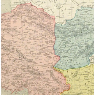 Vintage Map of Persia & Afghanistan, 1895 Preview
