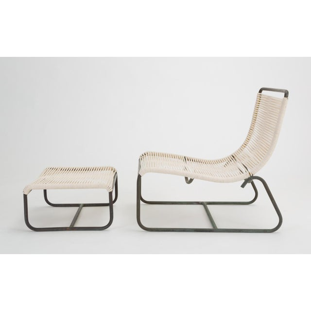Mid-Century Modern Pair of Walter Lamb Sleigh Chairs With Single Ottoman For Sale - Image 3 of 12