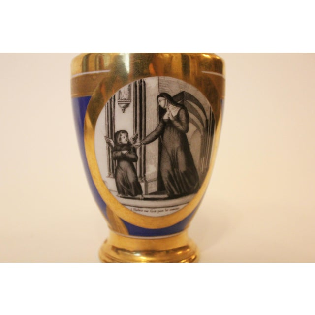 Mid 19th Century Small Cobalt Blue & Gold Directoire Pitcher For Sale - Image 5 of 6