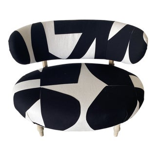Custom Black and White Minimalist Chair For Sale