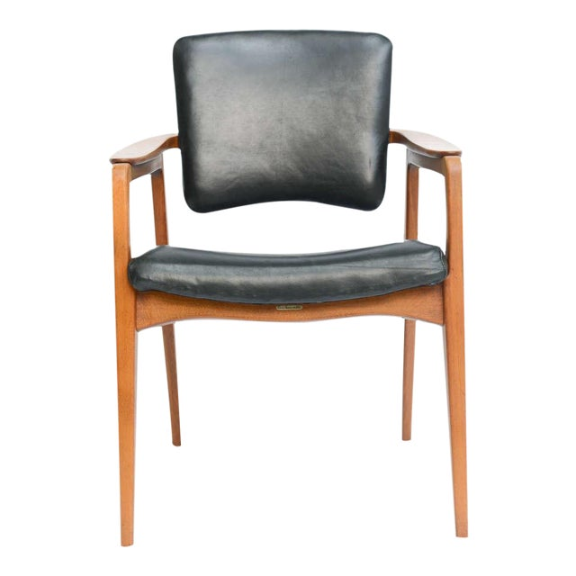 Sigvard Bernadotte for France & Daverkosen Danish Modern Teak Lounge Armchair - Image 2 of 11