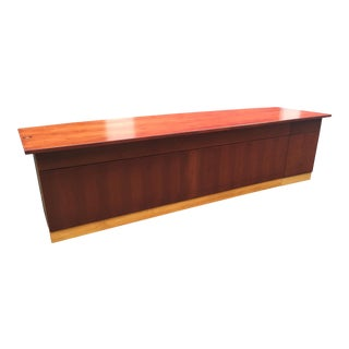 Mid-Century Modern Custom Cherry Executive Desk For Sale