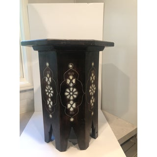 Moroccan Middle Eastern Style Inlaid Side Table Preview