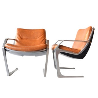 Jorge Zalszupin Brown Commander Chairs Brazilian Mid Century Modern For Sale