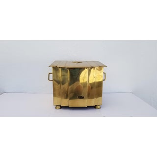 1960s Vintage Metal Brass Trash Can Preview