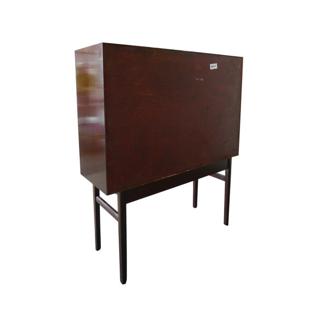 Danish Modern 1960s Danish Rungstedlund Mahogany Highboard by Ole Wanscher for Poul Jeppesen For Sale - Image 3 of 13