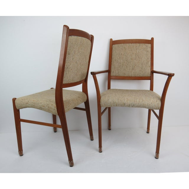 1960s Sculptural Mid-Century Modern Danish Teak Dining Chairs - Set of 4 For Sale - Image 9 of 13