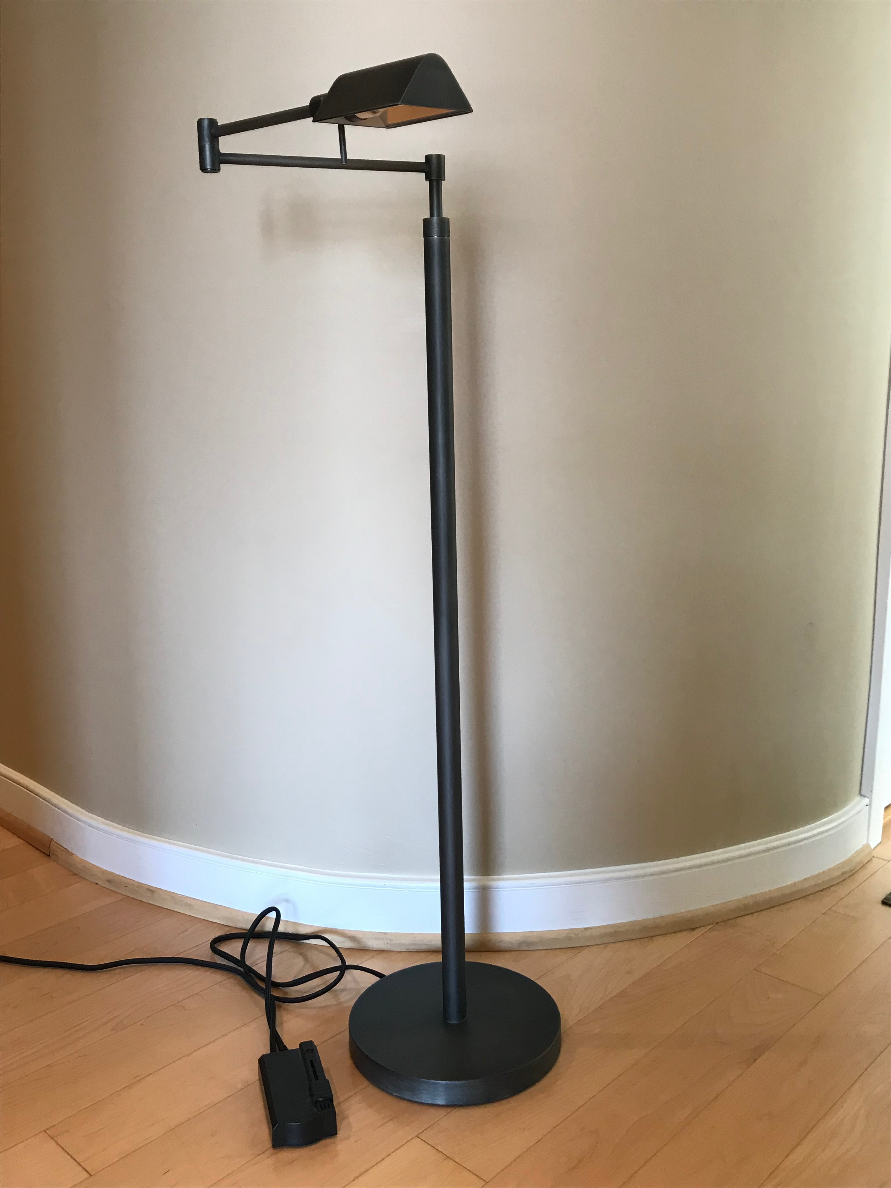 Metier Metal restoration hardware metier task floor lamp | chairish
