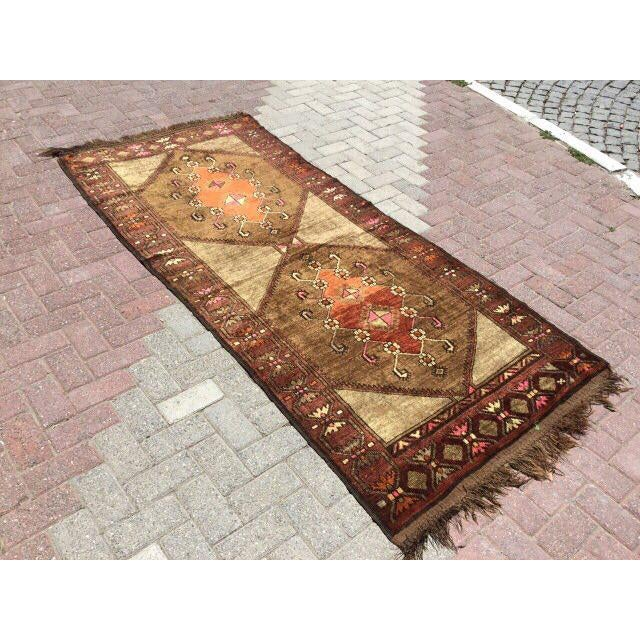 Boho Chic Vintage Hand Knotted Anatolian Rug For Sale - Image 3 of 7