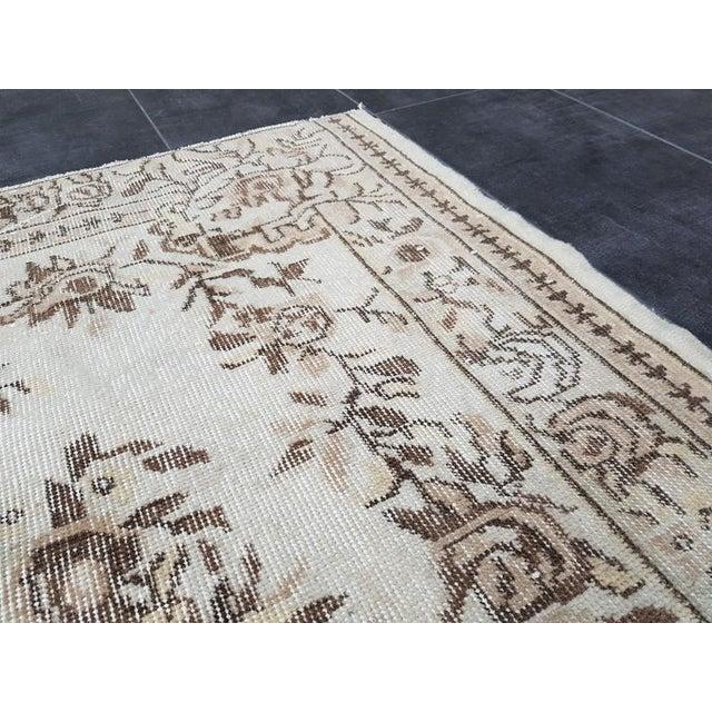 Vintage Oushak Traditional Handmade Area Rug- 3′10″ × 6′7″ For Sale - Image 6 of 11