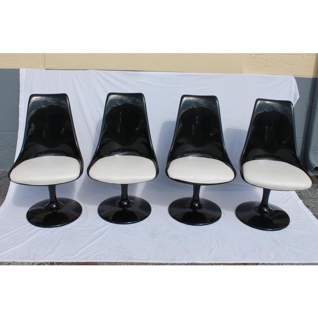 1960s Knoll-Style Black Dining Set For Sale - Image 4 of 11